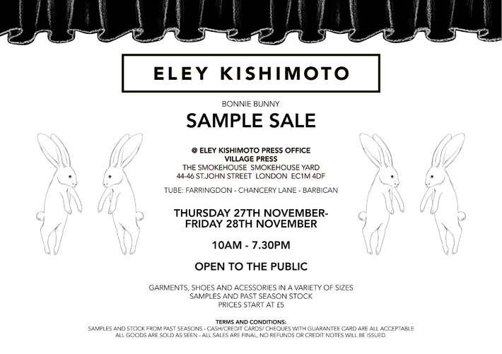 Sample Sale 27th-28th November
