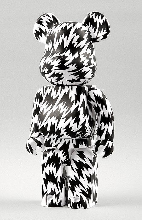 Eley Kishimoto Bearbrick in Black