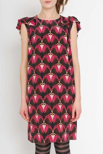 AW1112 BATMOSPHERE PRINT BAT DRESS - VARIOUS - Other Image
