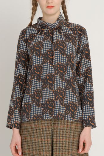 AW1213 TWEED & ROSES ABIGAIL'S BLOUSE - DAMSON