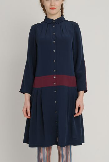 AW1213 CREPE DE CHINE LOYAL DRESS - SLATE