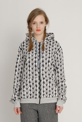 AW1213 KNIT YOU LIKE HYPER HOODY - SAND - Other Image