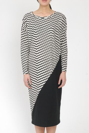 AW15 CAMO CHEVRON DRESS - Other Image