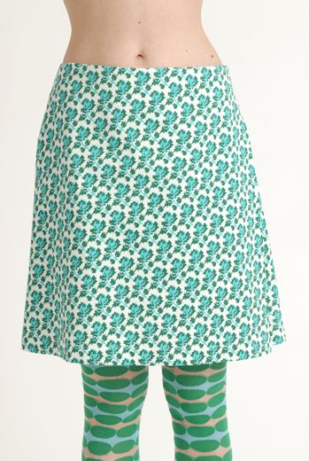 SS12 MINI MEAN ROSES SIDE PLEAT SKIRT
