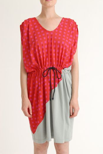 SS12 LAZY GRID TARAMASALATA DRESS -VARIOUS - Other Image