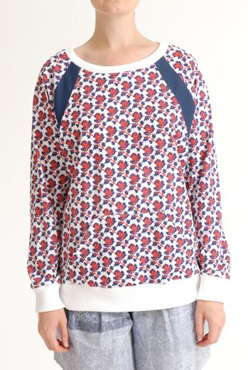 SS12 MINI MEAN ROSES RACING RAGLAN TOP - RED - Other Image