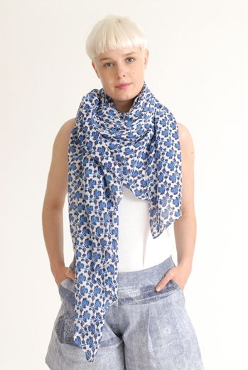SS12 MINI MEAN ROSES BIG SCARF - VARIOUS - Other Image
