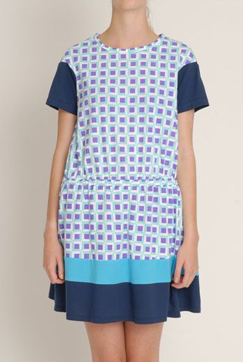 SS13 BLOCKED COLOURBLOCK DRESS