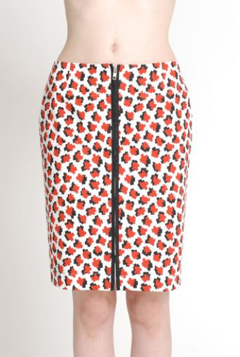 SS14 CUBIC MOLECULES FRONT ZIP SKIRT - Other Image