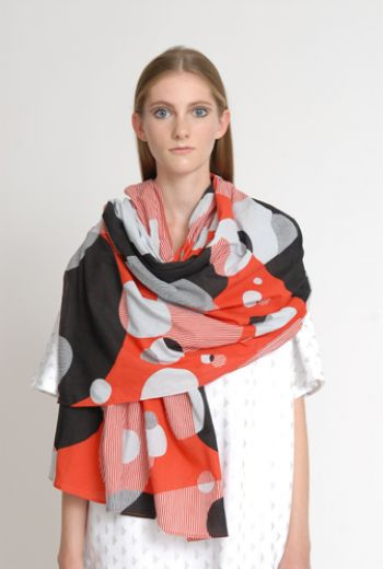 SS14 CIRCLE JUNGLE WIDE WRAP SCARF