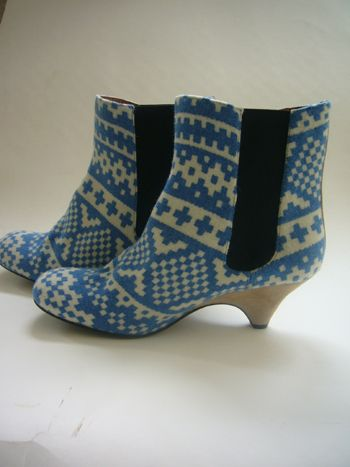 OLD JUMPER WOOL BOOTS - Eley Kishimoto :  suede boots shoes short