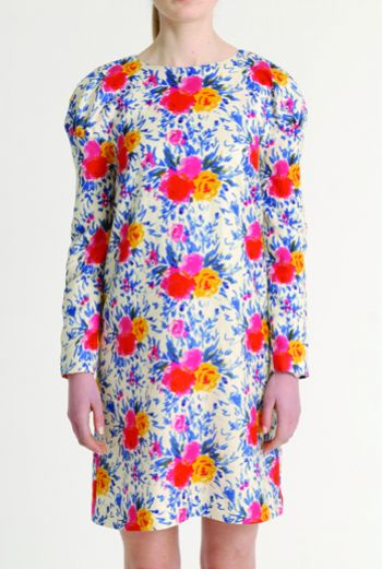 AW1314 IMPRESSIONS BOUQUET PUFF SHOULDER DRESS