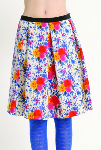 AW1314 IMPRESSIONS BOUQUET PLEAT SKIRT