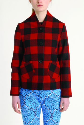 AW1314 WOOL CHECk PORTRAIT JACKET