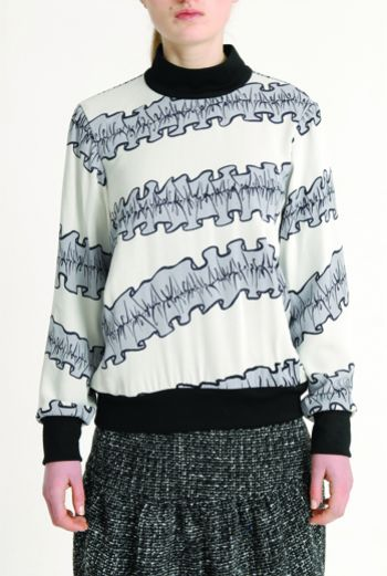AW1314 RUFFLES JUMP TOP - Other Image