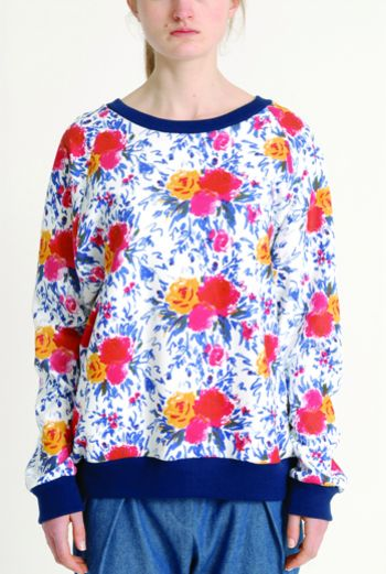 AW1314 IMPRESSIONS BOUQUET RAGLAN SWEATSHIRT - Other Image
