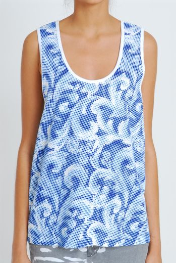 SS11 EMPERORS NEW CLOTHES UNISEX VEST - BLUE - Other Image