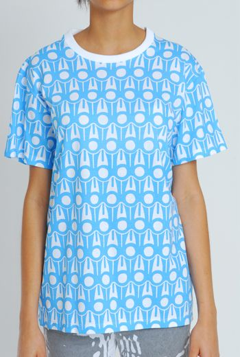 SS11 GRAPHIC-A-RUFFLE UNISEX TEE - BLUE - Other Image