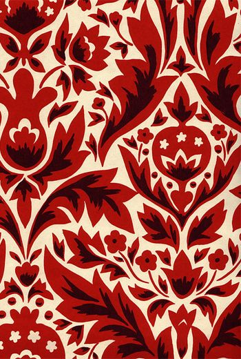 DAMASK WALLPAPER - RED - Other Image