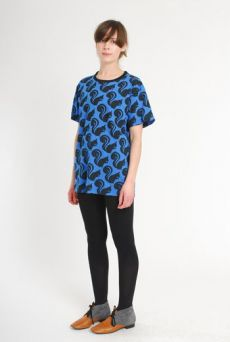 AW10/11 SQUIRREL TEE - BLUE - Other Image