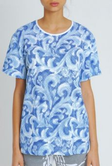 SS11 EMPERORS NEW CLOTHES UNISEX TEE - BLUE
