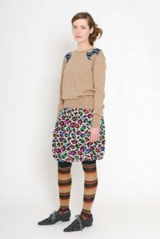 AW1112 PARTY LEOPARD PUFF SKIRT - MULTI - Other Image