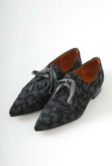 AW1112 SUEDE FLASH PRINT SHOES - BLACK