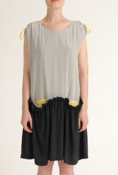 SS12 CREPE DE CHINE NARCISUS DRESS - GREY