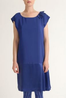 SS12 CREPE BACKED SATIN IVY DRESS -PURPLE