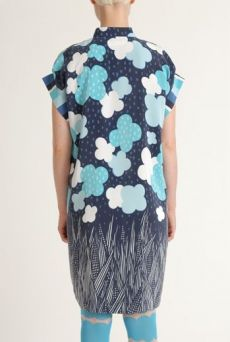 SS12 TOY TOWN BLUES PLACEMENT SHIRT DRESS - TURQUOISE - Other Image