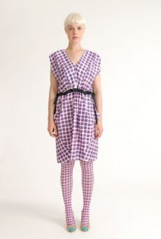 SS12 GINGHAM CHECK TIGHTS - VARIOUS - Other Image