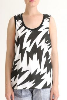 SS12 FLASH FLASH UNISEX VEST - BLACK