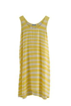HSS12 WONDER BORDER CHEESY TANK DRESS - VARIOUS
