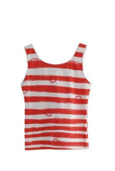 HSS12 WONDER BORDER TRIM VEST - RED - Other Image