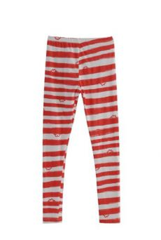 HSS12 WONDER BORDER LEGGINGS - RED - Other Image