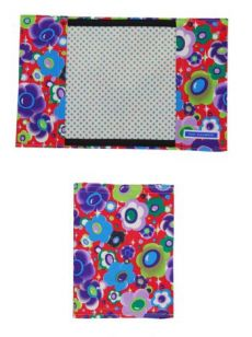 HSS12 MAGIC FLOWERS/ ASTERISK NOTEBOOK COVER - RED