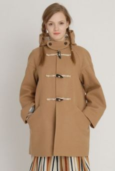 AW1213 WOOL MELTON FUNDAMENTAL DUFFEL COAT - GREEN