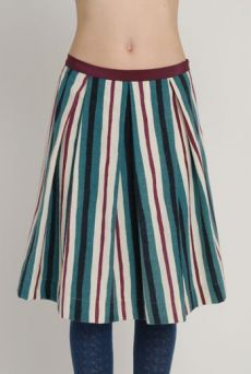 AW1213 WONKY COLLEGE STRIPE PLEAT SKIRT - VARIOUS - Other Image