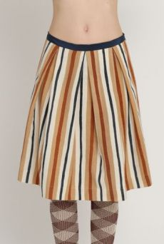AW1213 WONKY COLLEGE STRIPE PLEAT SKIRT - VARIOUS