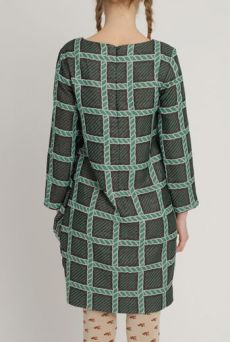 AW1213 ROPEY HERITAGE POCKET MATTER DRESS - EVERGREEN - Other Image