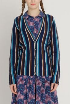 AW1213 BOILED COLLEGE CARDIGAN - VARIOUS