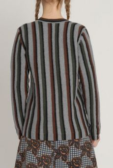 AW1213 BOILED COLLEGE CARDIGAN - VARIOUS - Other Image