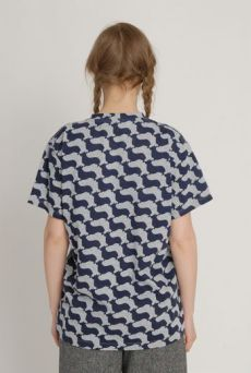 AW1213 PEDIGREE ENTOURAGE UNISEX T-SHIRT - NAVY - Other Image