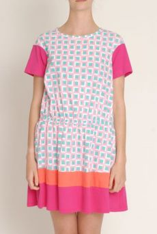 SS13 BLOCKED COLOURBLOCK DRESS - Other Image