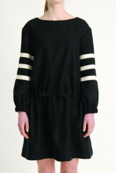 AW1314 PURE WOOL DRAWSTRING DRESS
