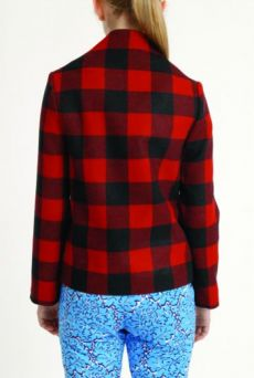 AW1314 WOOL CHECk PORTRAIT JACKET - Other Image