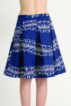 AW1314 OPAQUE RUFFLES PLEAT SKIRT - Other Image