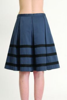 AW1314 COTTON SATEEN PLEAT SKIRT - Other Image