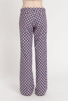 SS14 LIGHT ON LATTICE SEMI FLARE TROUSERS - Other Image