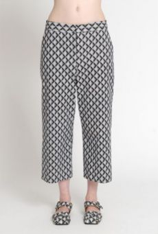 SS14 LIGHT ON LATTICE HALF MAST TROUSERS